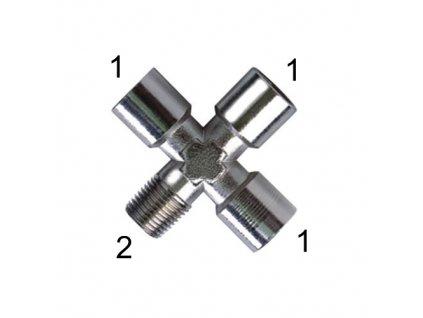 """X-šroubení s vnitřními závity G1/4"""" a vnějším závitem R1/4"""""""