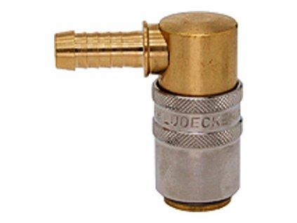 Rychlospojka s 90° trnem na hadici 5mm s ventilem