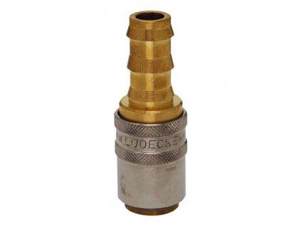 Rychlospojka s přímým trnem na hadici 10mm s ventilem