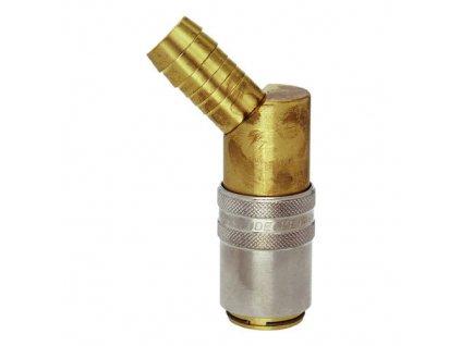Rychlospojka s 45° trnem pro standardní hadice 9mm s ventilem