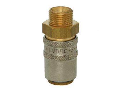 """Rychlospojka s přímým prodlouženým vnějším závitem G3/8"""" s ventilem"""