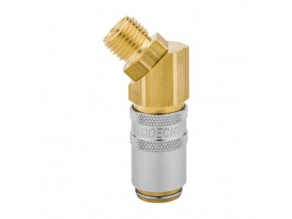 """Rychlospojka s 45° vnějším prodlouženým závitem G3/8"""" s ventilem"""