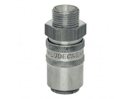 """Rychlospojka s přímým vnějším závitem G1/4"""" s ventilem"""