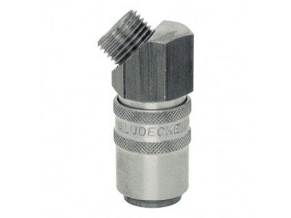 """Rychlospojka s 45° vnějším závitem G1/4"""" s ventilem"""