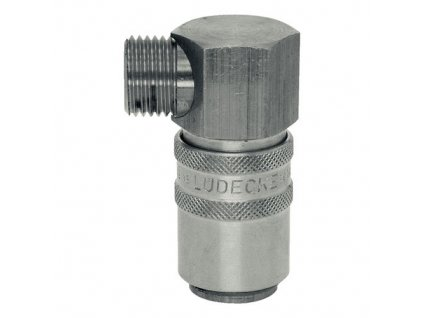 Rychlospojka s 90° vnějším závitem M16x1,5 s ventilem