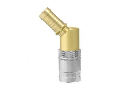 Rychlospojka s 45° trnem pro standardní hadici 13mm s ventilem