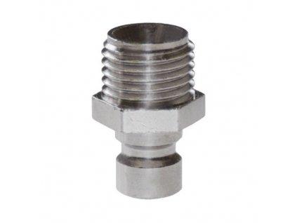 """Vsuvka s přímým vnějším závitem R1/4"""" s ventilem"""