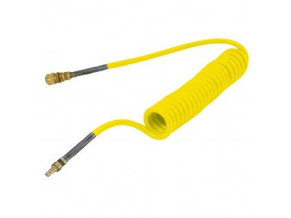 Spirálová hadice PUBY s rychlospojky 12/8 mm - délka 2 m
