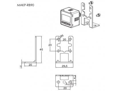 MAKP RB90 manometr digital zadni drzak