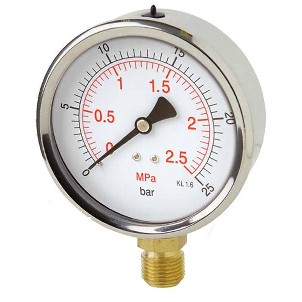 Manometr robustní stranový 0/250 bar - 100 - M20x1,5