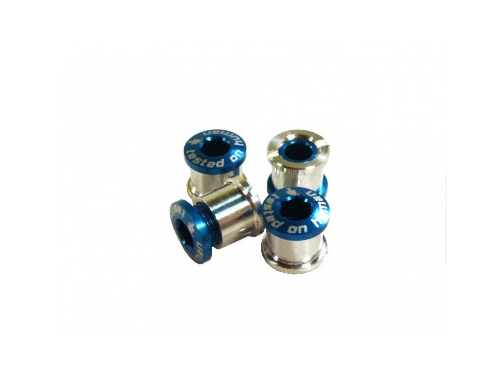 šrouby do převodníku ShamanRacing 8mm, 4ks modré