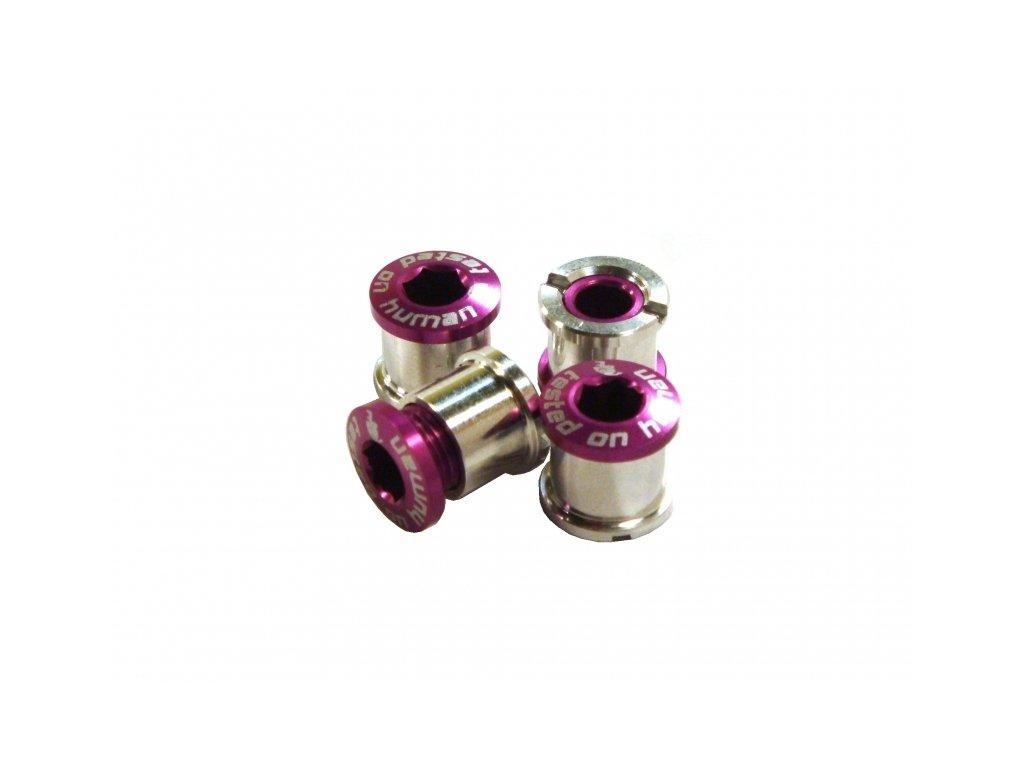 šrouby do převodníku ShamanRacing 8mm, 4ks fialové