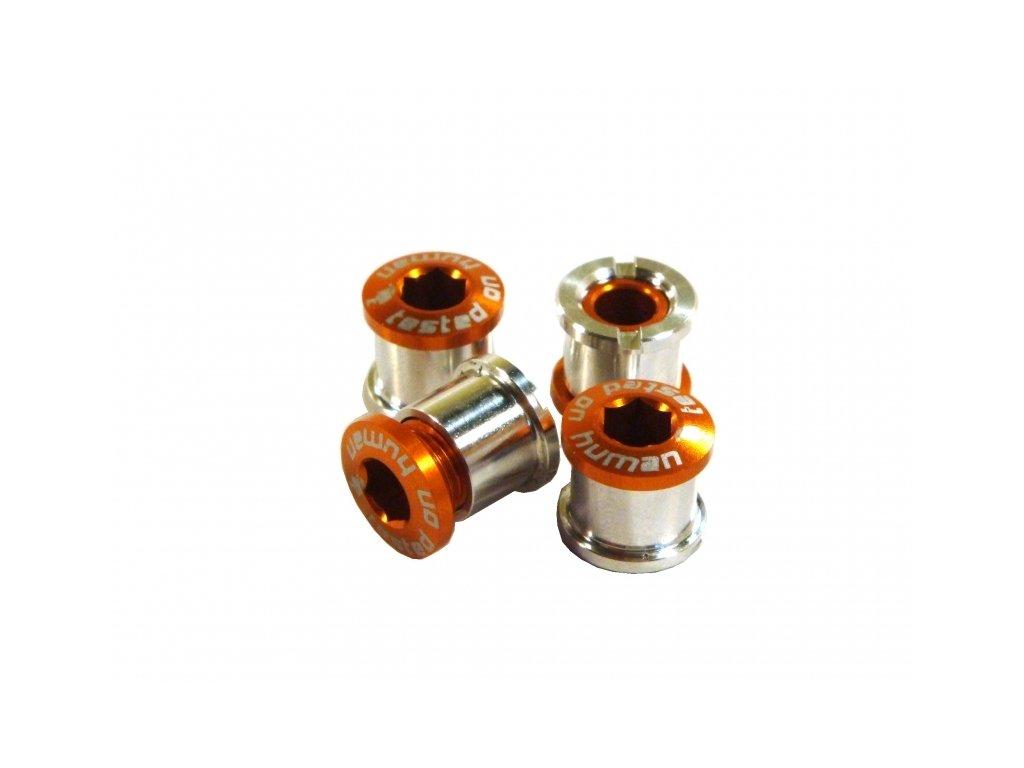 šrouby do převodníku ShamanRacing 8mm, 4ks oranžové