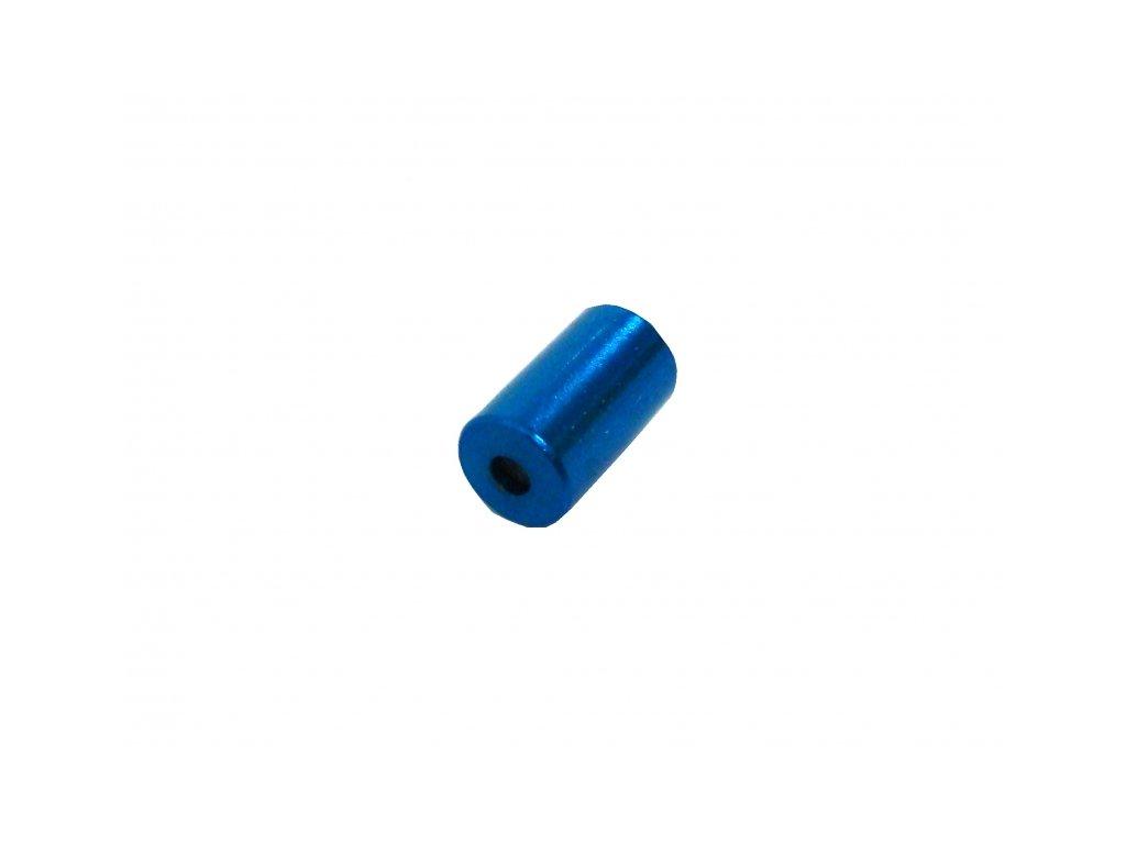 koncovka bowdenu 5.0mm Alhonga CNC modrá 20ks