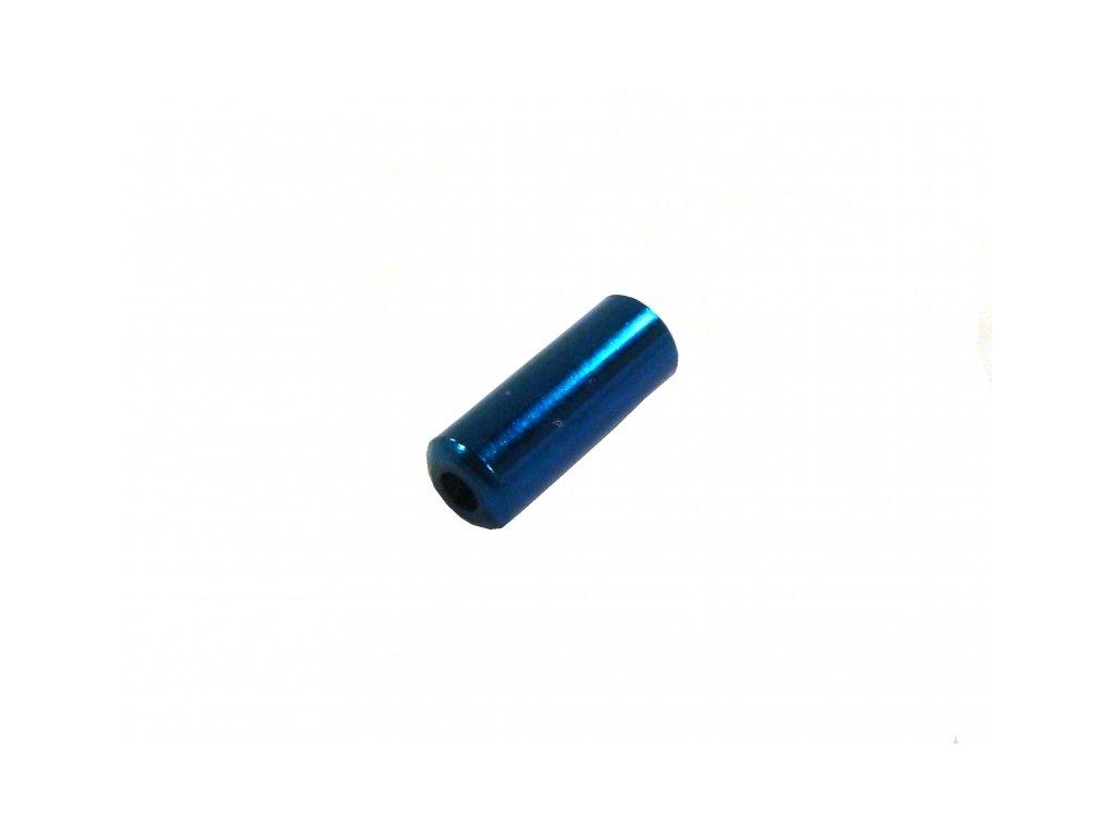 koncovka bowdenu 4.0mm Alhonga CNC modrá 20ks