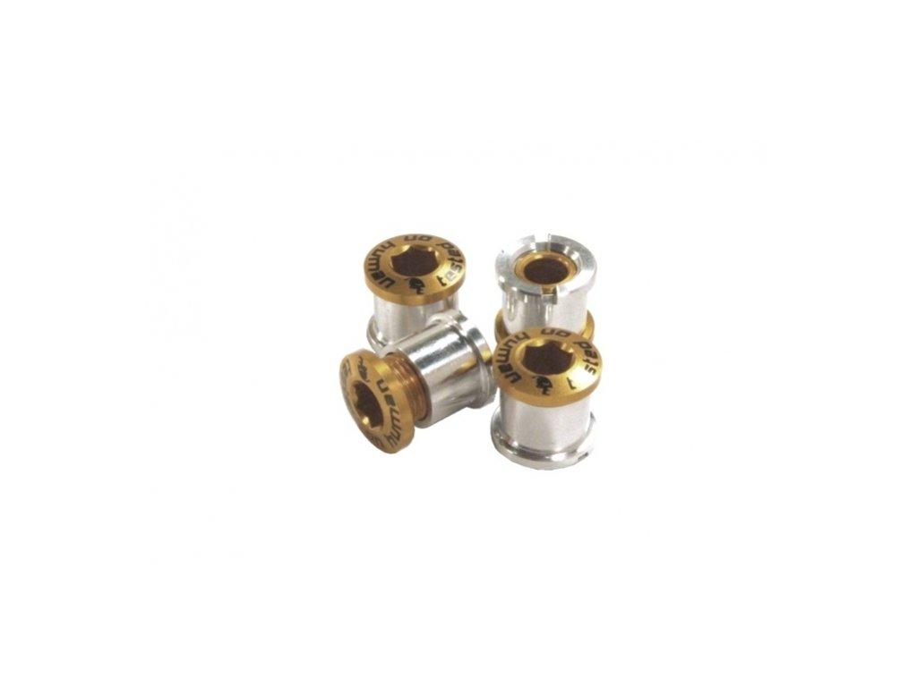 šrouby do převodníku ShamanRacing 8mm, 4ks zlaté