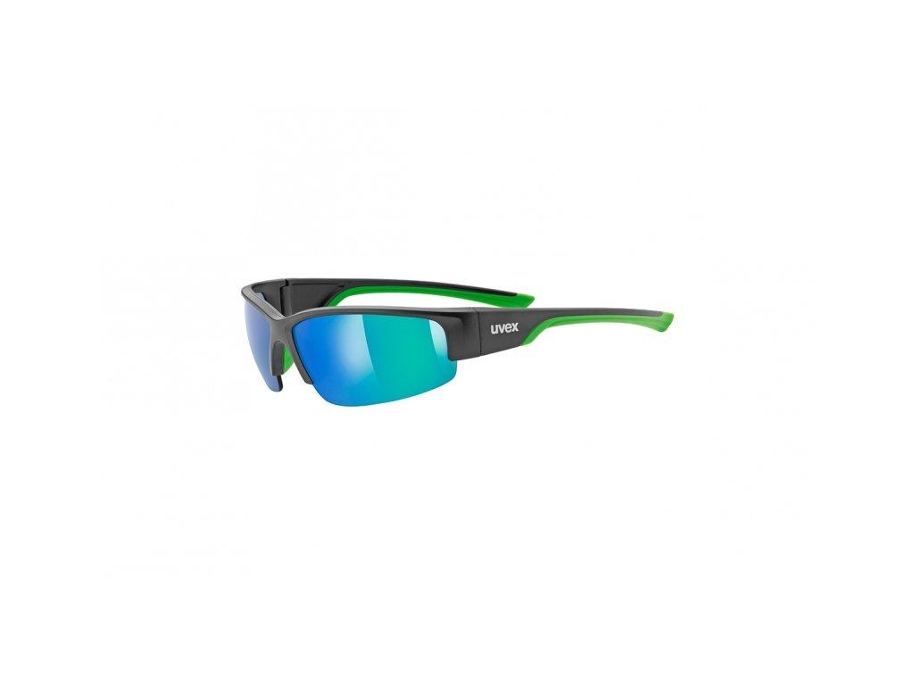 brýle UVEX Sportstyle 215 černo/zelené