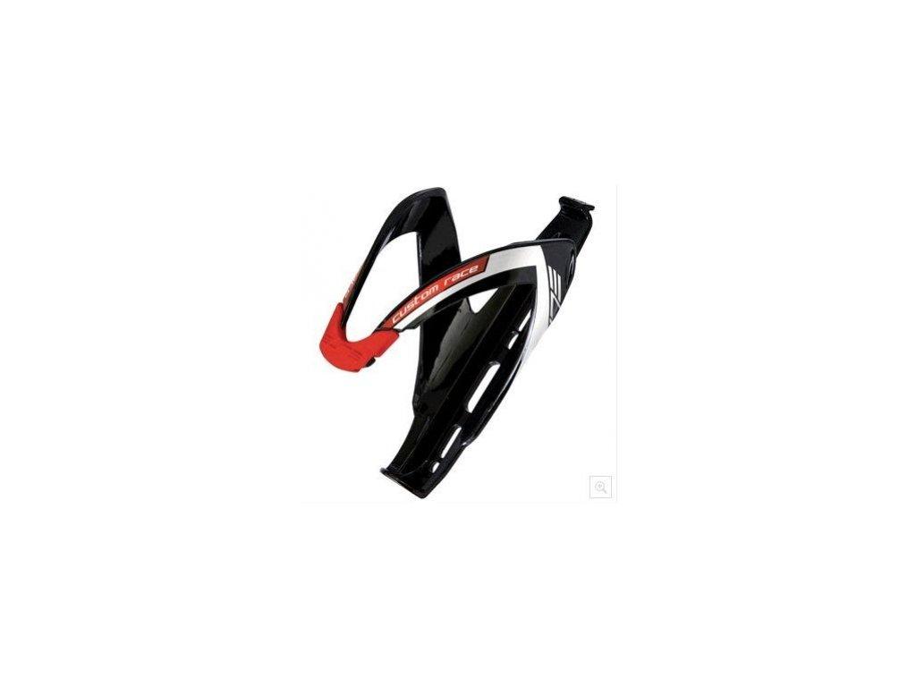 košík ELITE Custom Race Black glossy červený