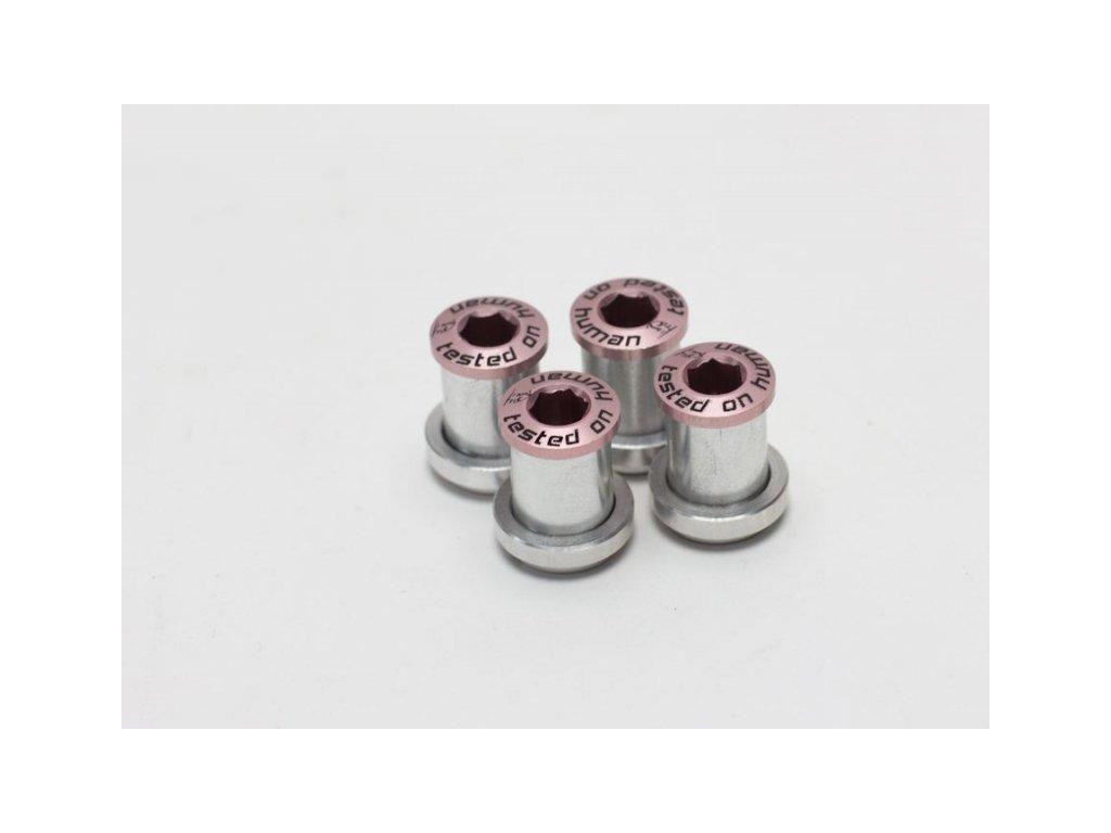 šrouby do převodníku ShamanRacing 13mm, 4ks růžové
