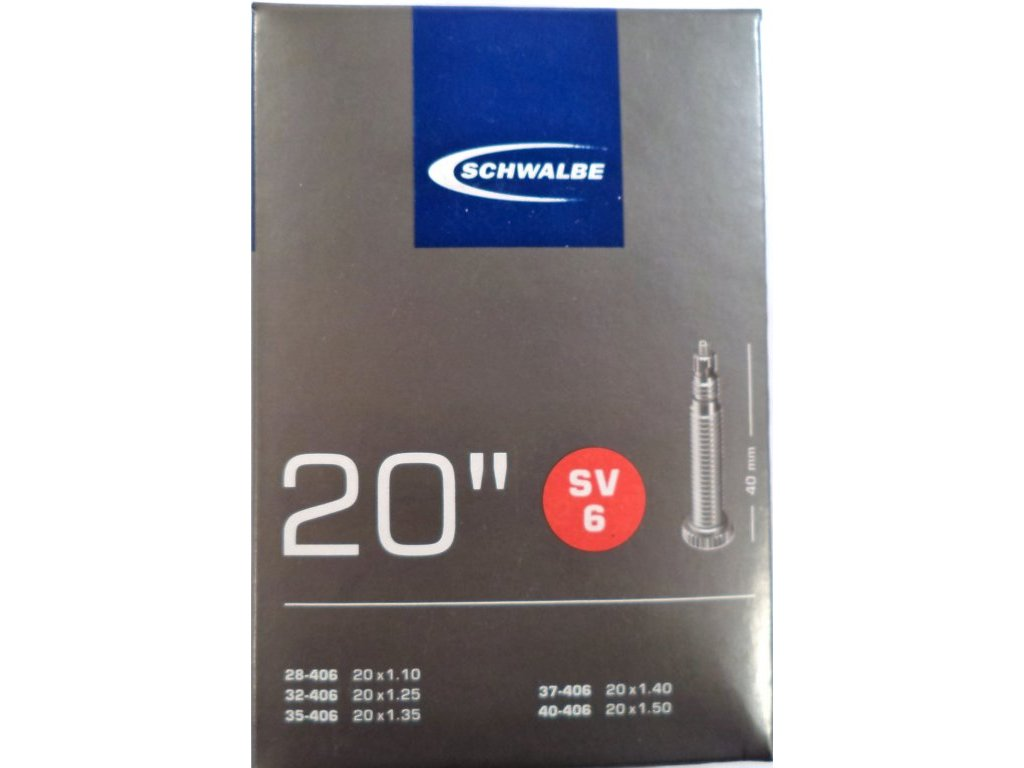 """duše SCHWALBE SV6 20""""x1.10-1.50 (28/40-406) FV/40mm"""