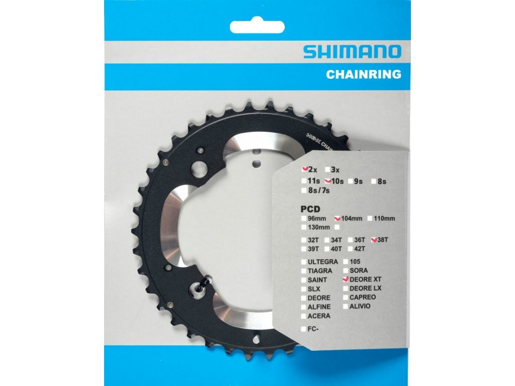 převodník 38z Shimano XT FC-M785 2x10 4 díry 38z (AM)