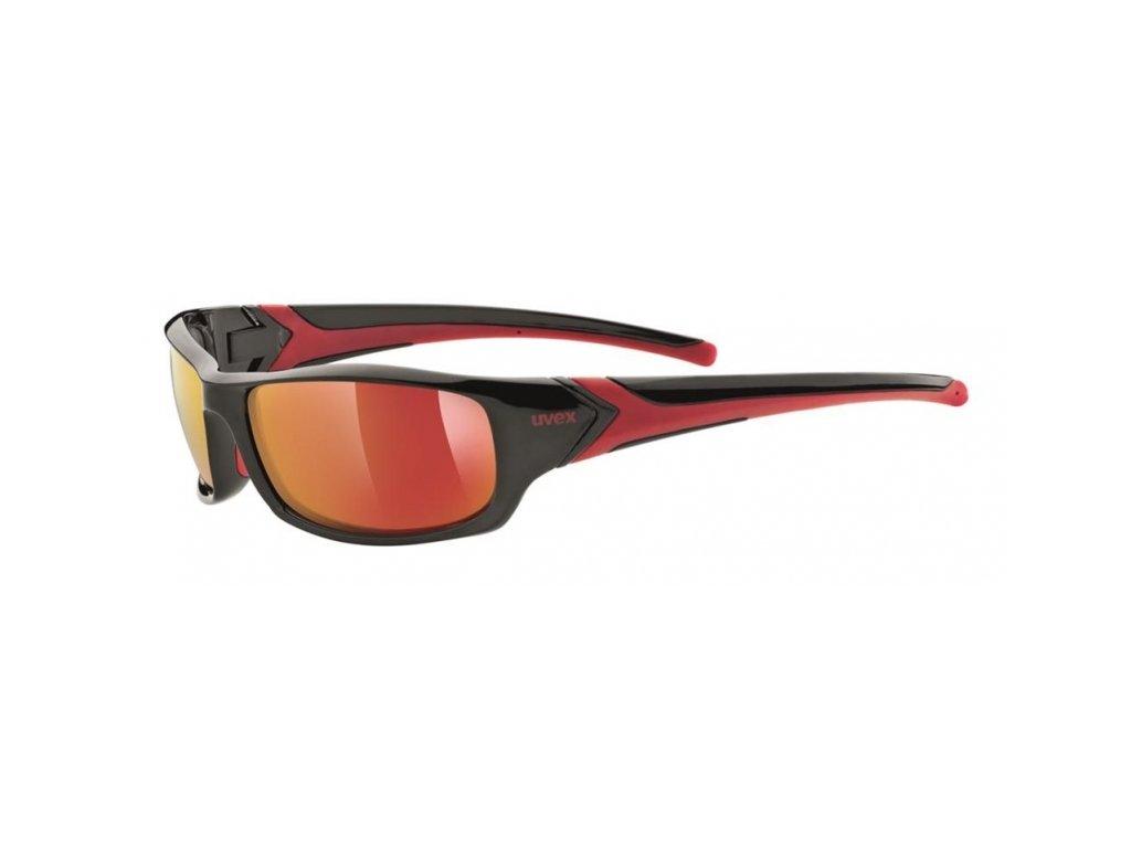 brýle UVEX Sportstyle 211 černo/červené