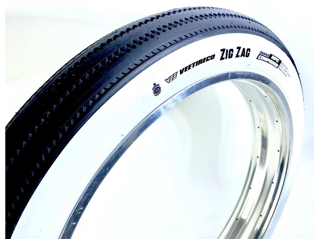Fat Bike Zig Zag 26 x 4,0 97 / 102-559, bílý bok