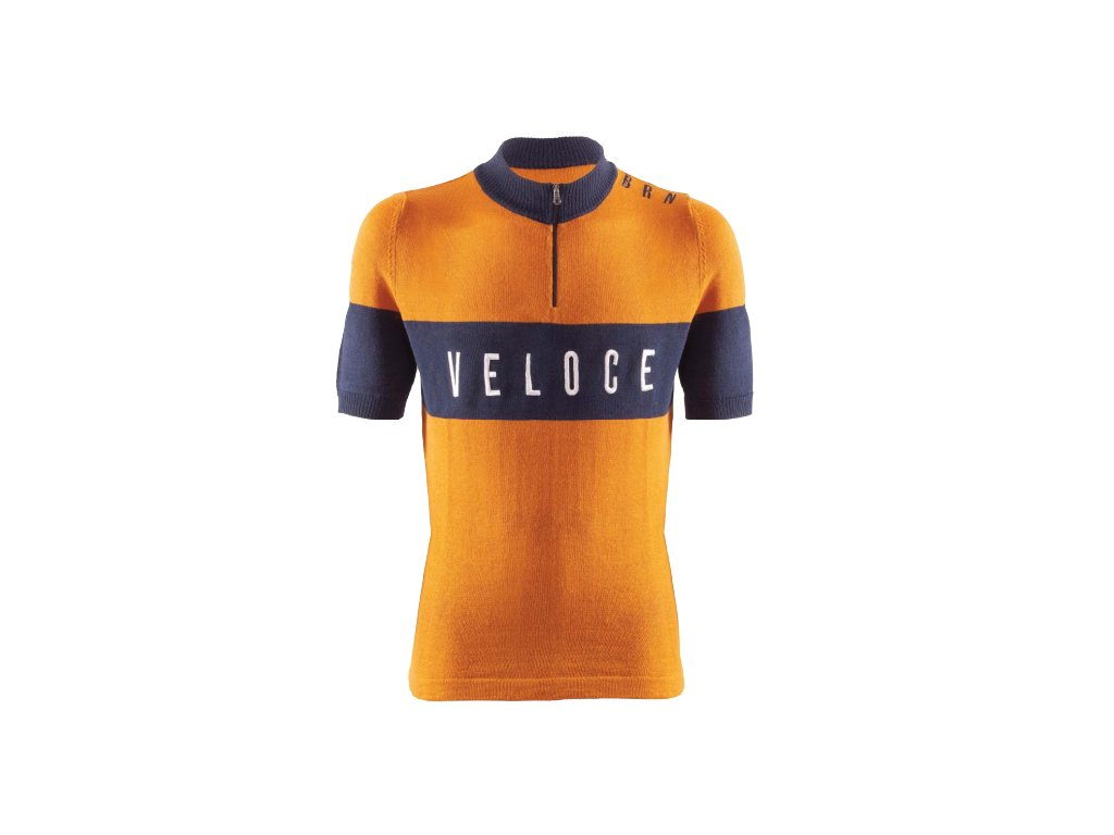 Cyklistický dres VINTAGE VELOCE okrový