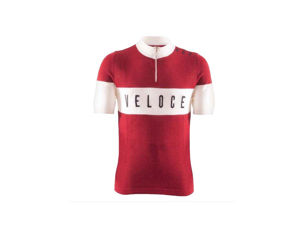 Cyklistický dres VINTAGE VELOCE červený