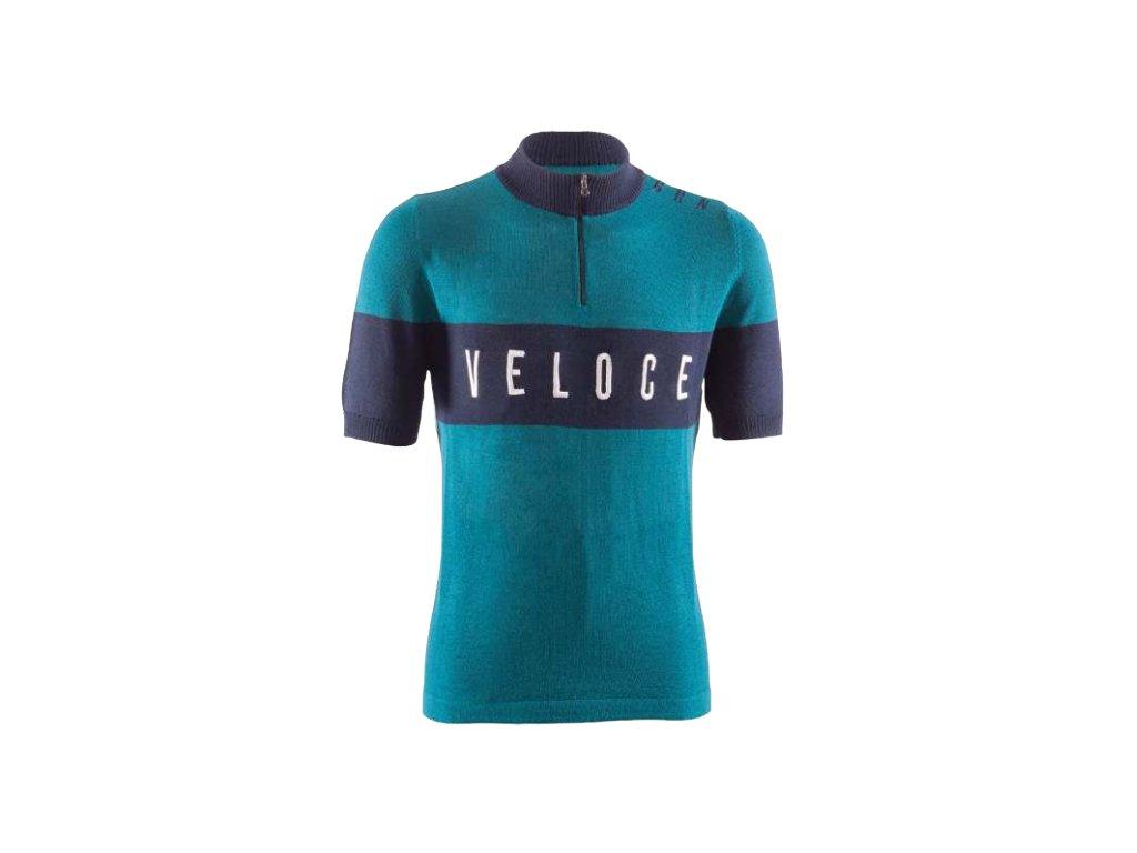 Cyklistický dres VINTAGE VELOCE aquamarine