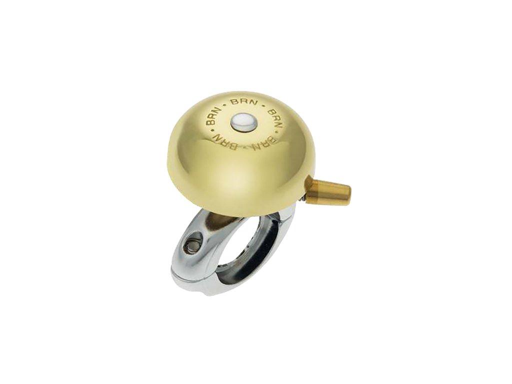 Zvonek VINTAGE Campanello Anita 40mm s pružinovým úderníkem zlatý - Zvonek pro klasická kola s překrásným decentním a jasným zvukem o průměru kloboučku 40mm ve zlaté barvě.