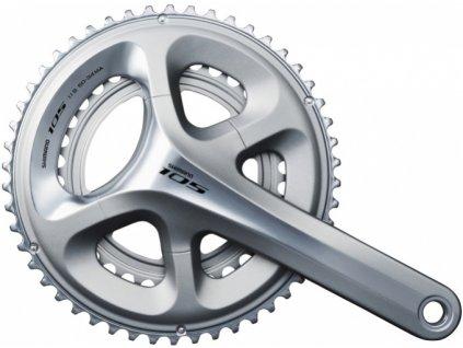 kliky Shimano 105 FC-5800 2x11 53/39z 175mm stříbrné original balení