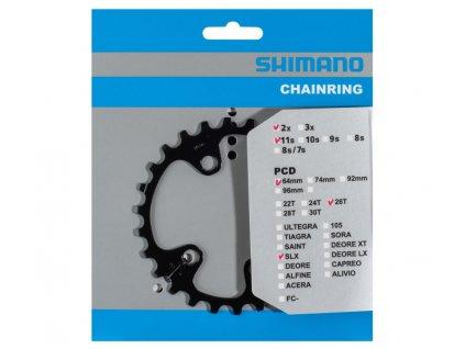 převodník 26z Shimano FC-M7000 2x11 4 díry