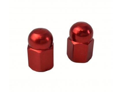 Čepičky ventilků, Klenutá matice, červené