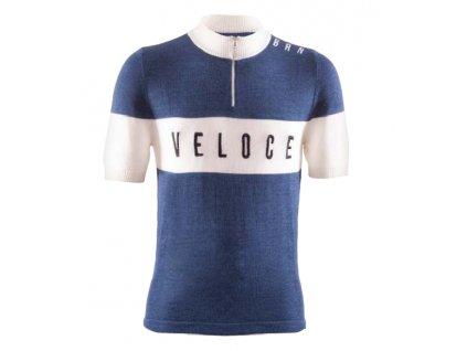 Cyklistický dres VINTAGE VELOCE modrý