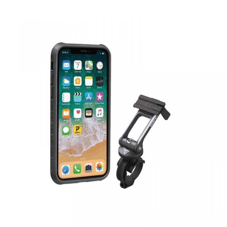 obal na mobil TOPEAK pro iPhone X černo/šedý