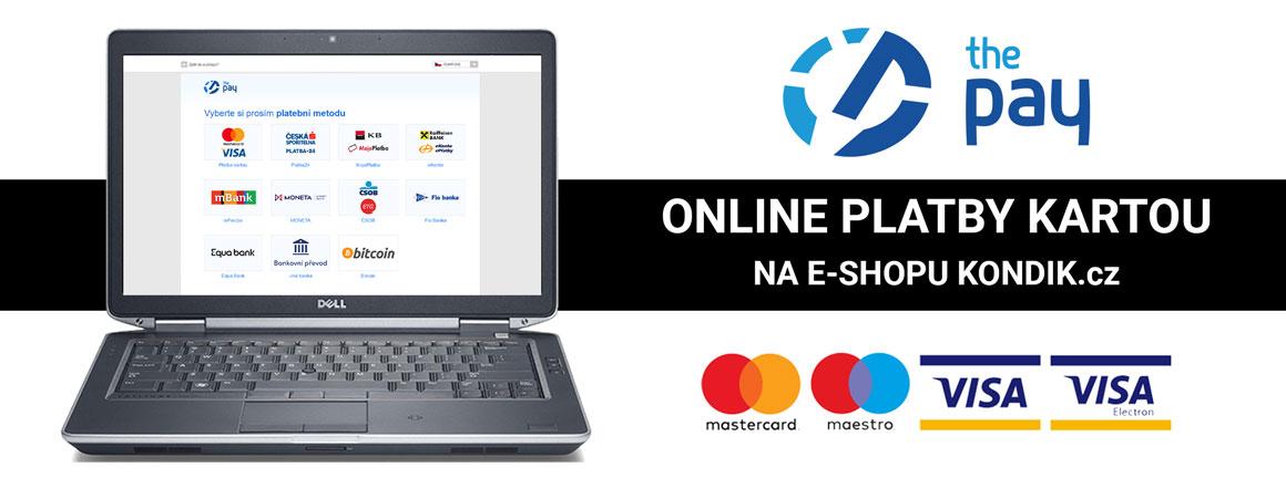 Online platby kartou na KONDIK.cz