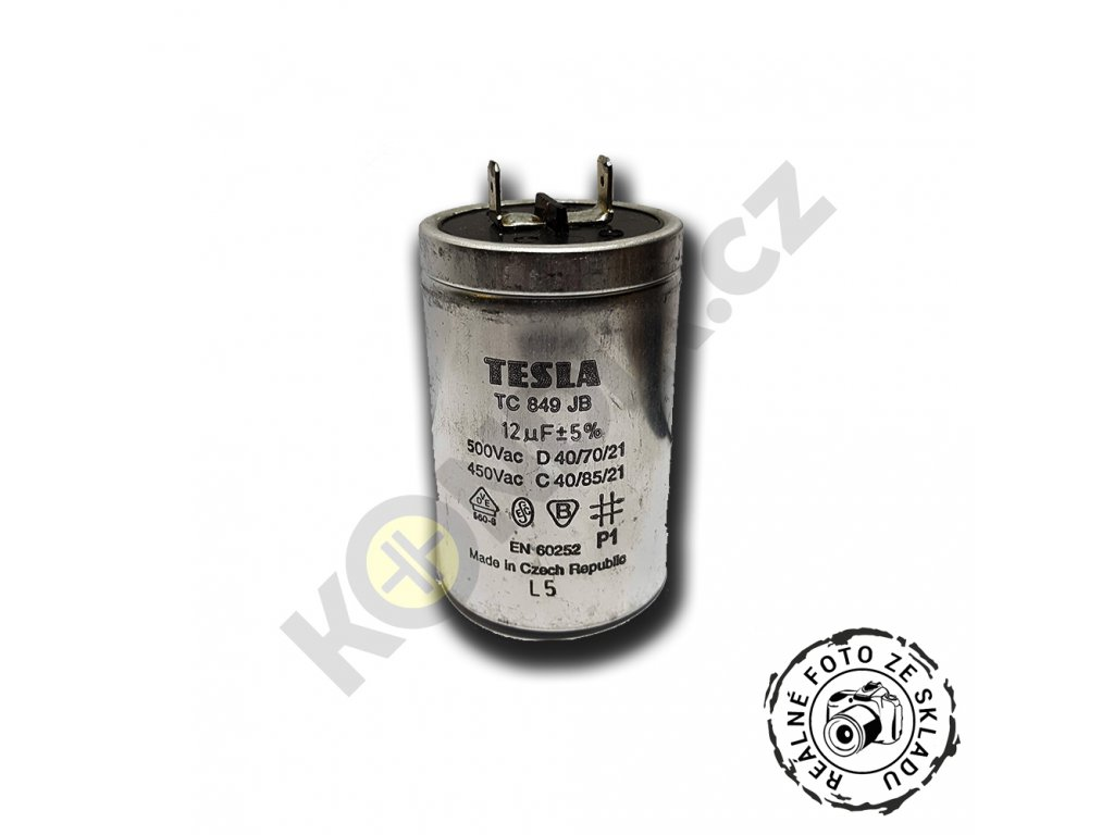 Kondenzátor rozběhový 12uF 450V TC849JB