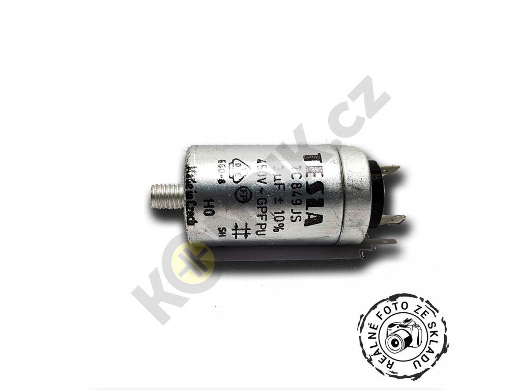 Kondenzátor rozběhový 3uF 450V TC849JS