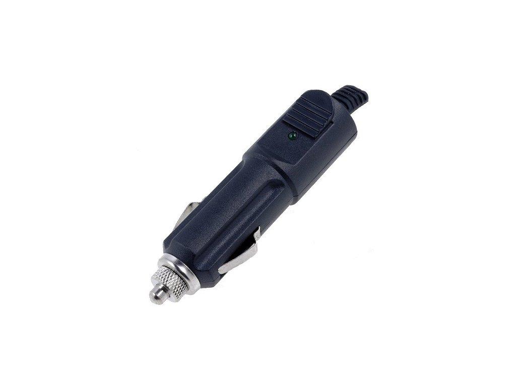 Vidlice autozapalovače 1,5A s pojistkou a LED