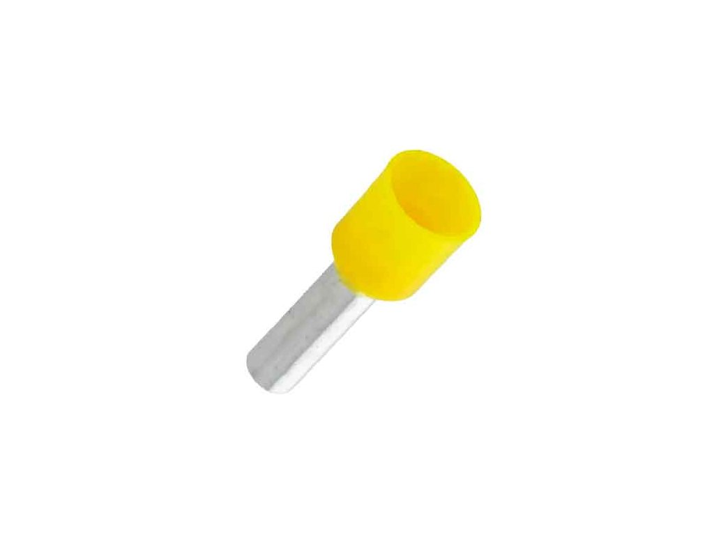 Dutinka izolovaná 6x12mm žlutá
