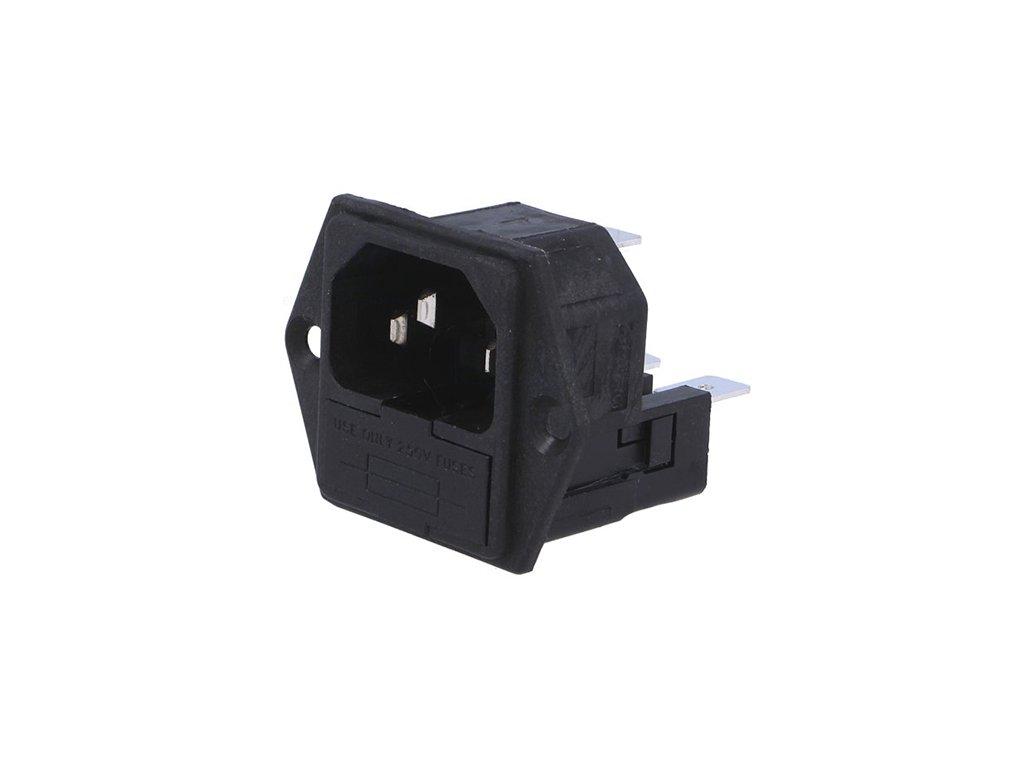 Konektor IEC60320 C14 (E) vidlice PF0030