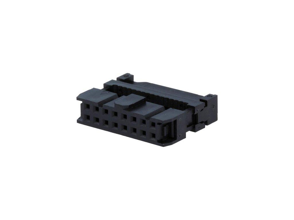 Konektor IDC 16pin zásuvka na kabel 1,27mm