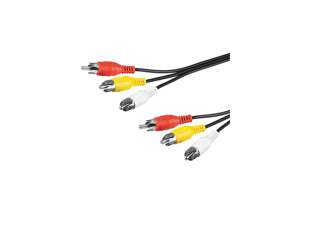Kabel 3x CINCH - 3x CINCH M/M 3m