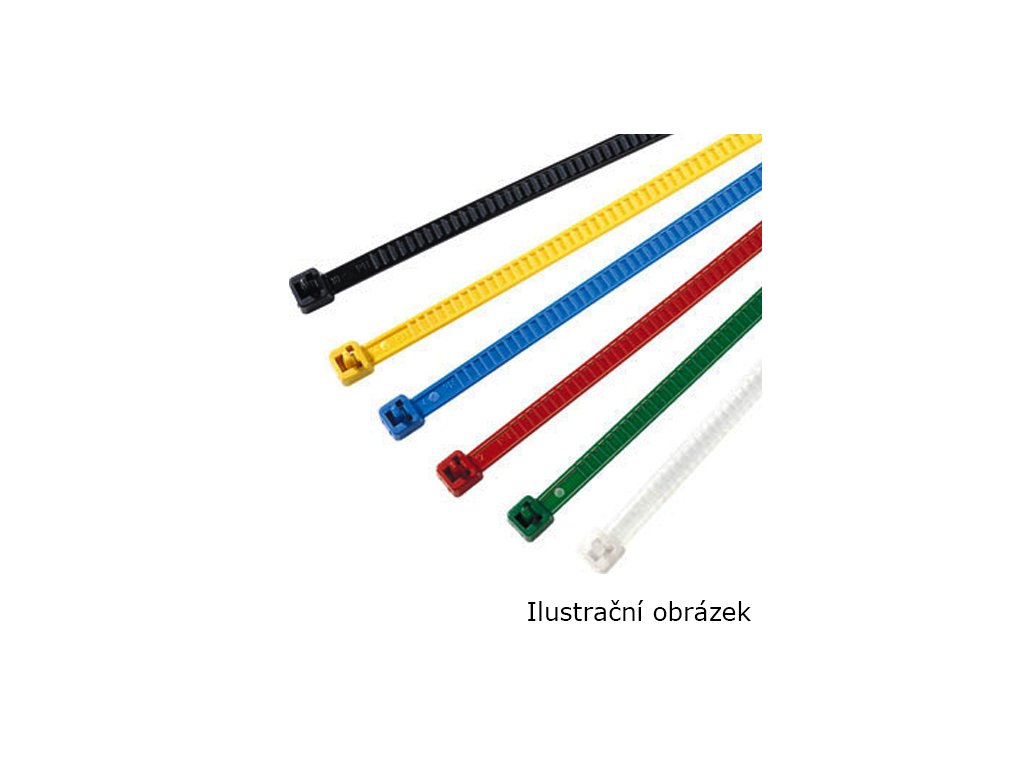 Stahovací pásek 4,7x195mm LR55R žlutý