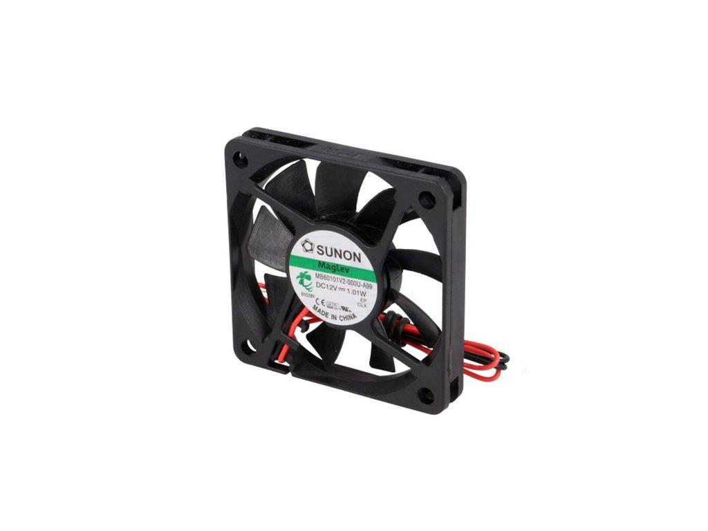 Ventilátor 12VDC 60x60x10mm MF60101V2