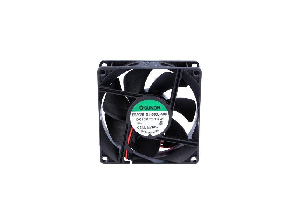 Ventilátor 12VDC 80x80x25mm EF80251S1