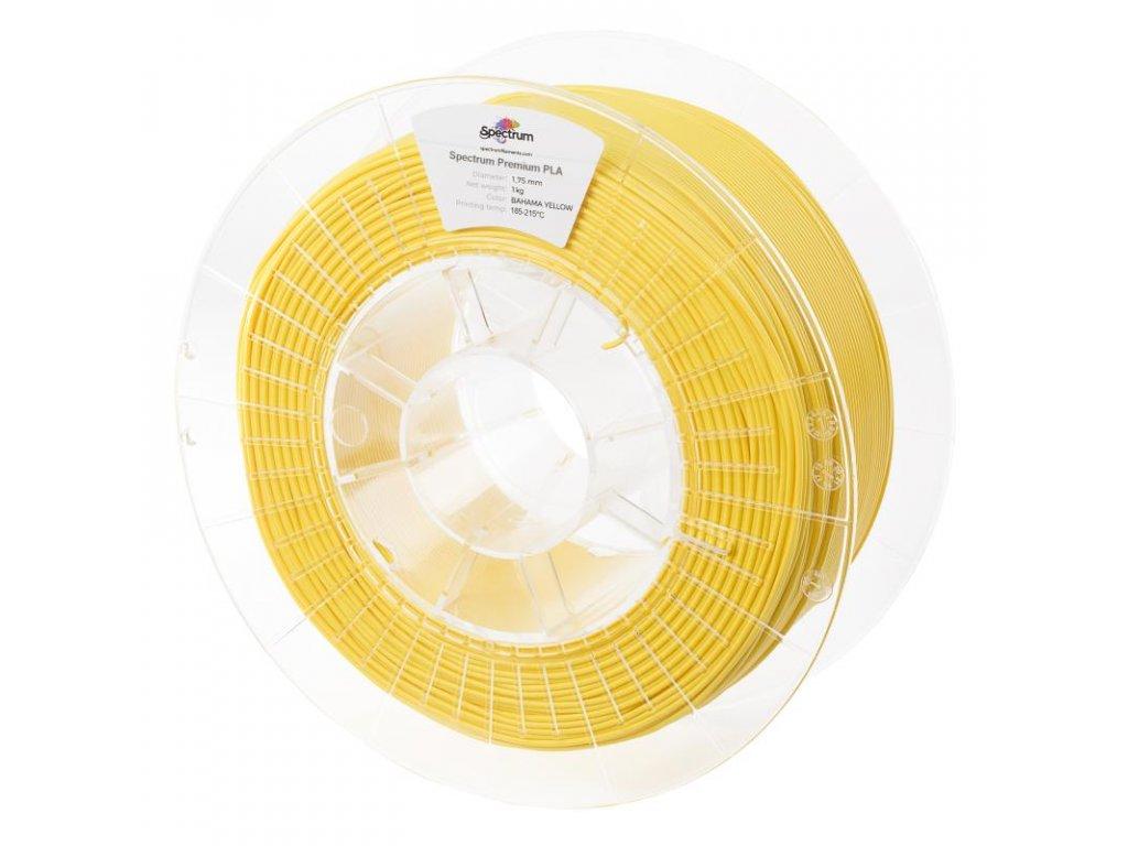 Filament PLA 1,75mm žlutá (Bahama Yellow) 1kg