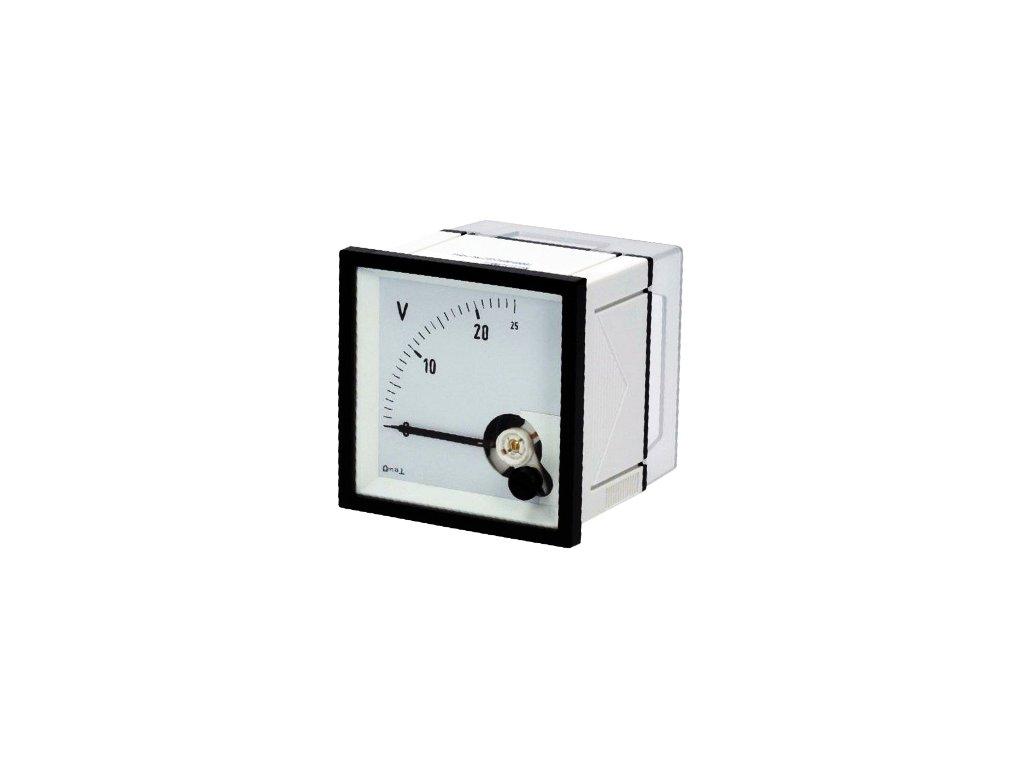 Měřicí přístroj analogový 0-25V na panel DQN72