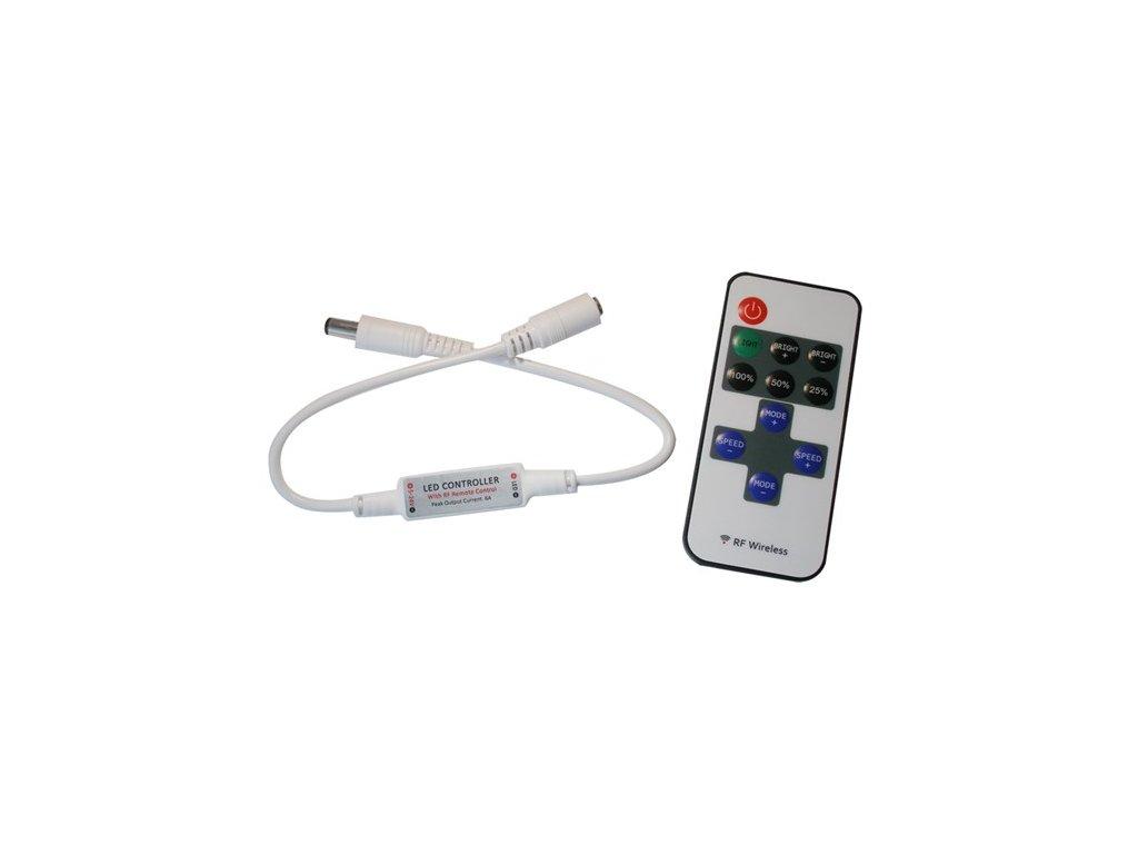 Řídící jednotka pro jednobarevné LED pásky MINI RF